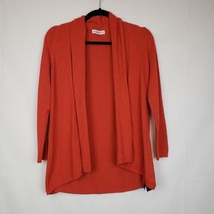 Zara knit Women's open Cardigan Orange Stretch M
